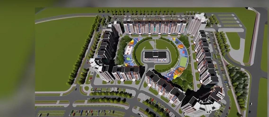 Строительство микрорайона Спутник 2